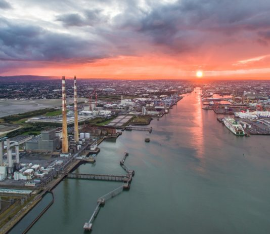 dublin-port-sunset