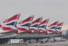 British_Airways_Boeing_747-400_tails_at_Heathrow