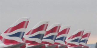 British_Airways_Boeing_747-400_tails_at_Heathrow